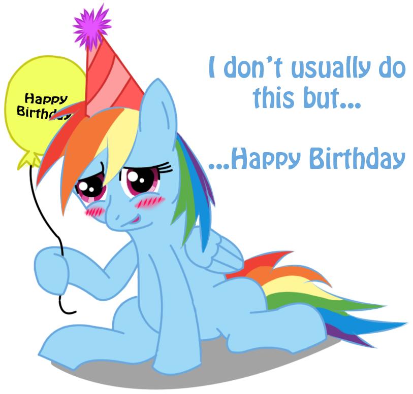 happy birthday rainbow dash