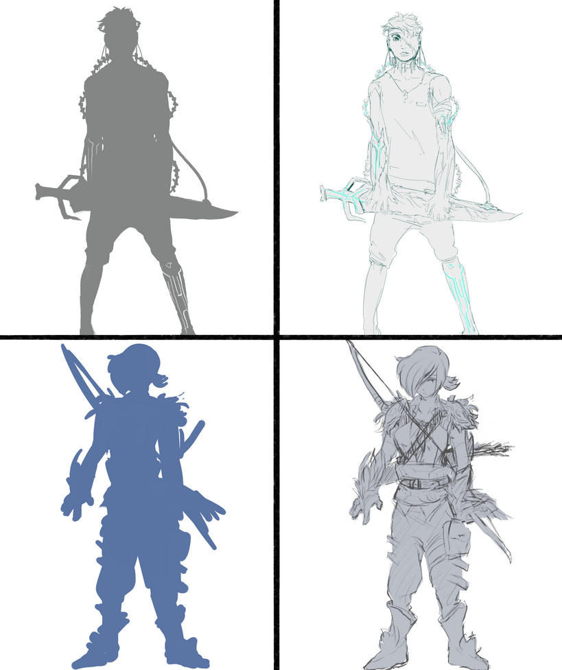Silhouette meme by 2943