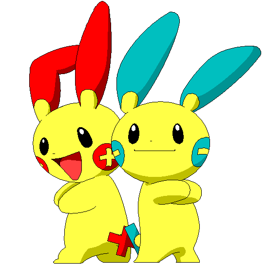 Plusle and Minun by iridionPlusle And Minun