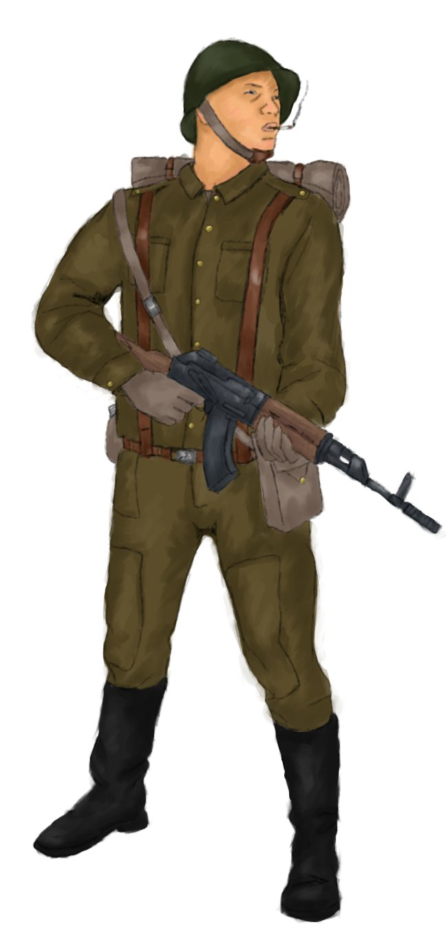 Soldier colouring by Lebiro
