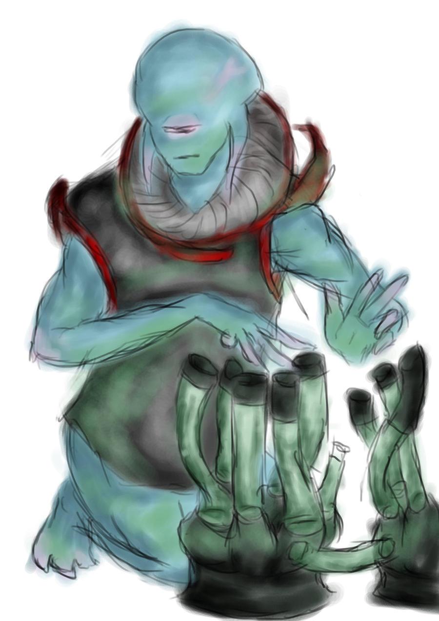 Alien Musician by Lebiro