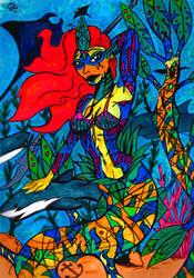 Warrior Mermaid by BJWthegravelord