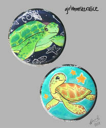 turtle buttons by asheidolon