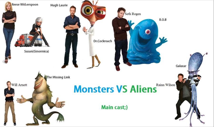 Monsters Vs Aliens Characters Names