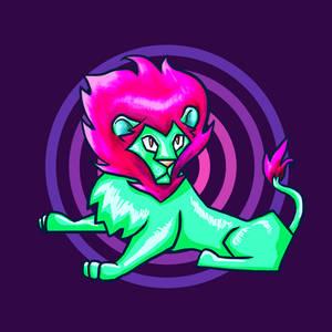 Neon lion