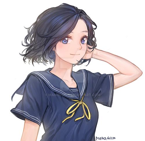 girl uniform by manggi07