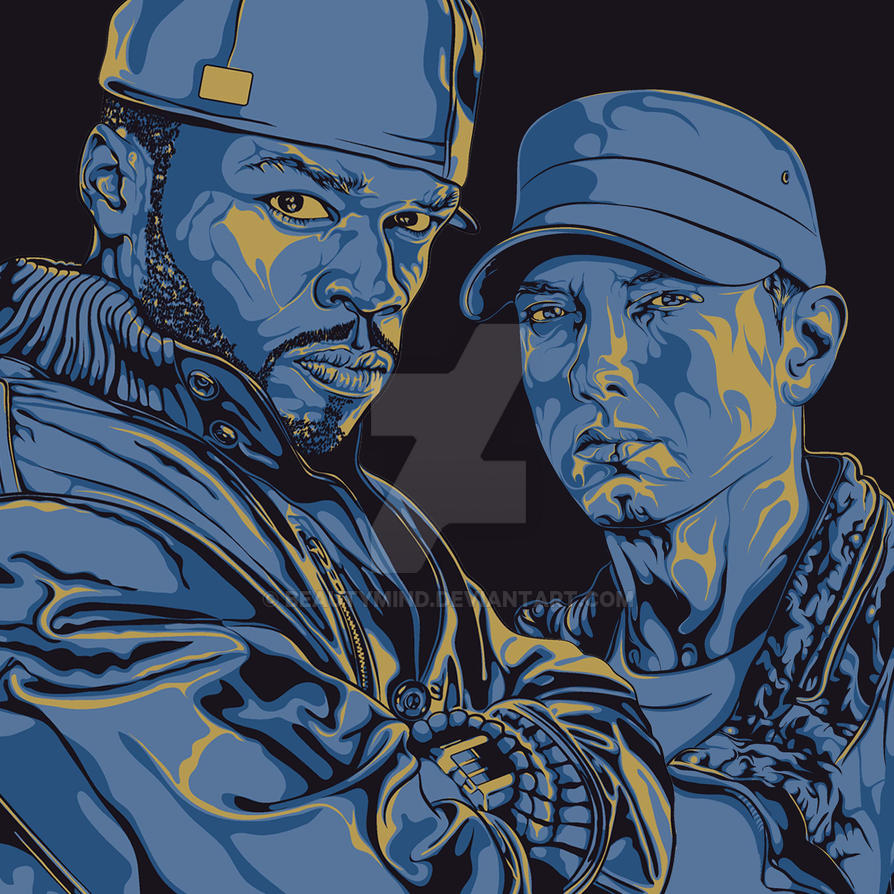 50cent and Eminem by BeautyMind
