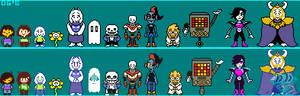 Undertale Overworld cast V2