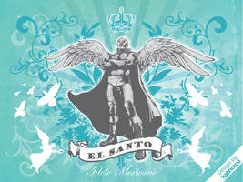 EL SANTO Idolo Mexicano by kathorce