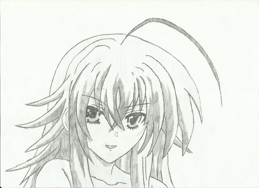 High School Dxd Rias Gremory Drawing Sketch Coloring Page