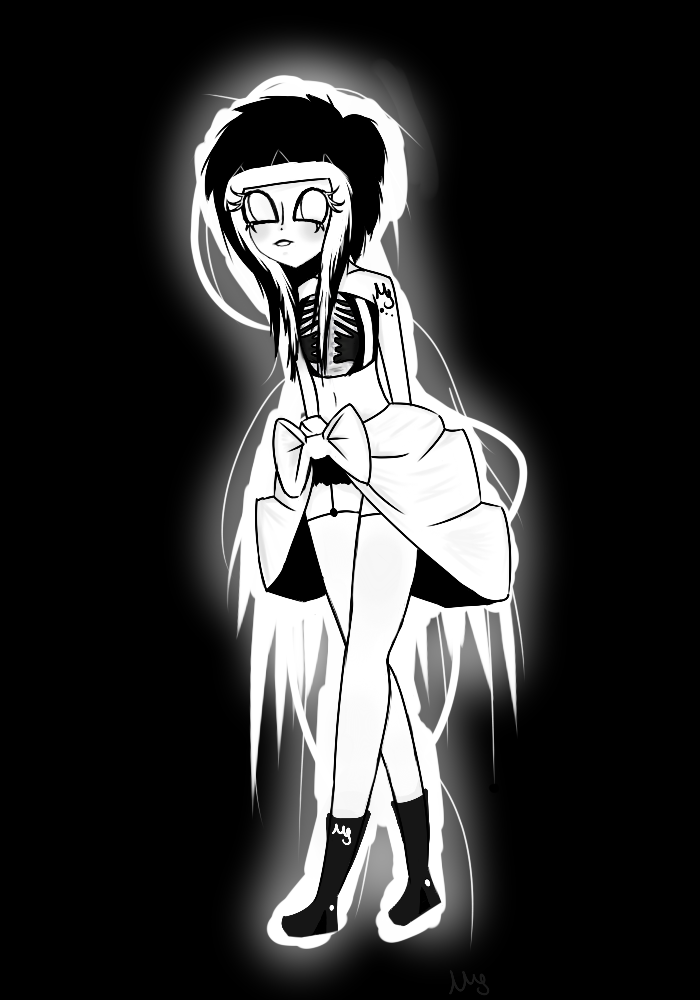 Miss Monochrome by NeonMonsterrr