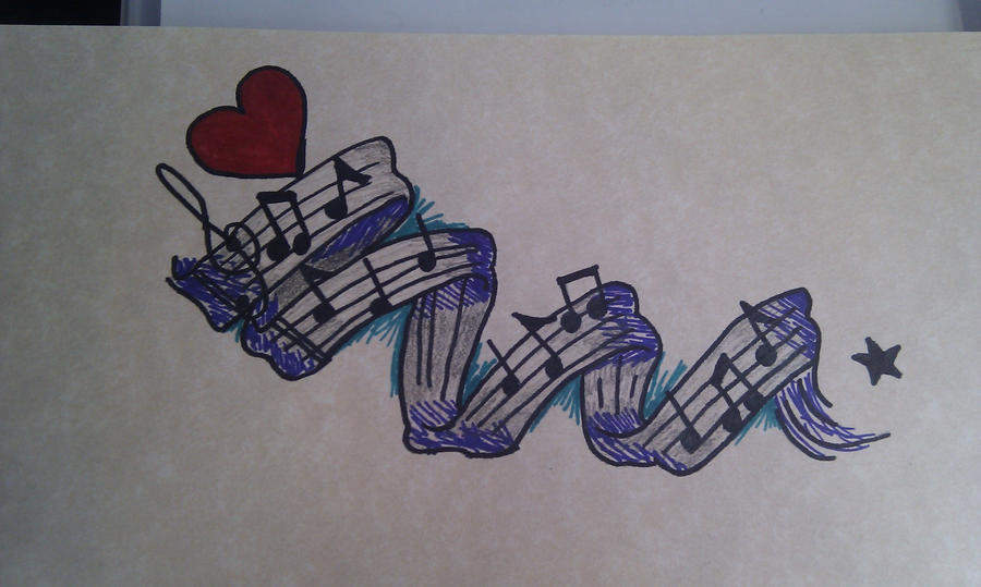 Music Tattoo Sketch Music Notes Tattoo by