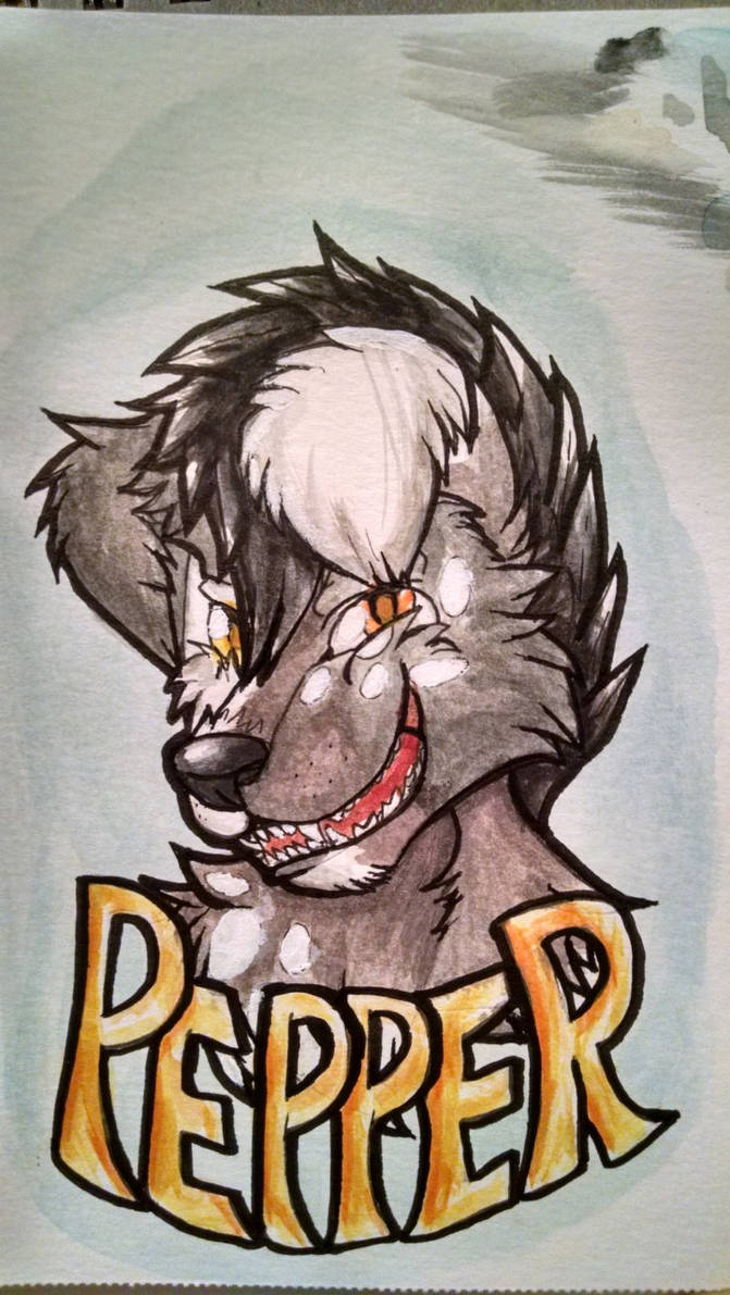Pepper Watercolor Badge