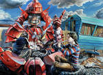 Red Samurai by pylongod