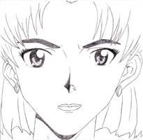 Ritsuko sketch by SLB81