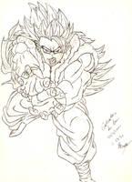 Gogeta sketch by SLB81