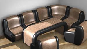 Leather Sofa Set I by SLB81