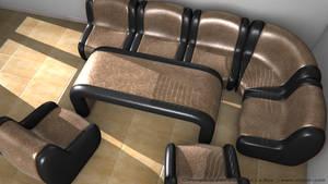 Leather Sofa Set II by SLB81