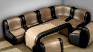 Leather Sofa Set I v2 by SLB81