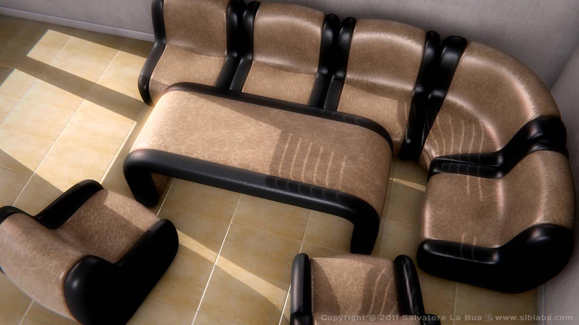Leather Sofa Set II v2 by SLB81