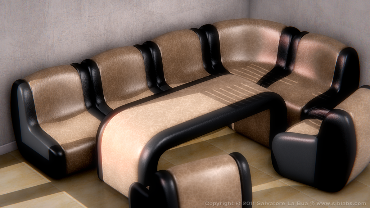 Leather Sofa Set I V3 By SLB81