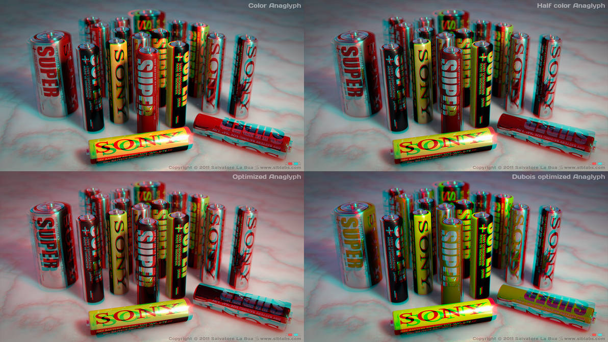 Sony Batteries Anaglyph by SLB81