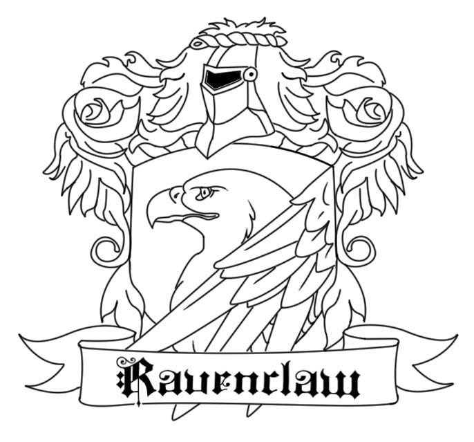 ravenclaw crest coloring pages ravenclaw crest coloring pages