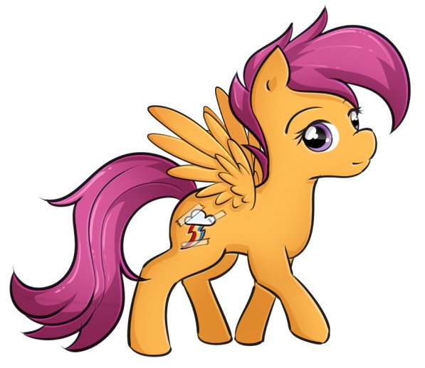 Scootaloo's cutie mark by secret-pony