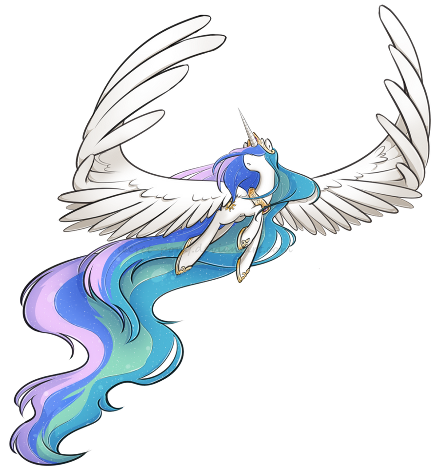 Princess Celestia by secret-pony