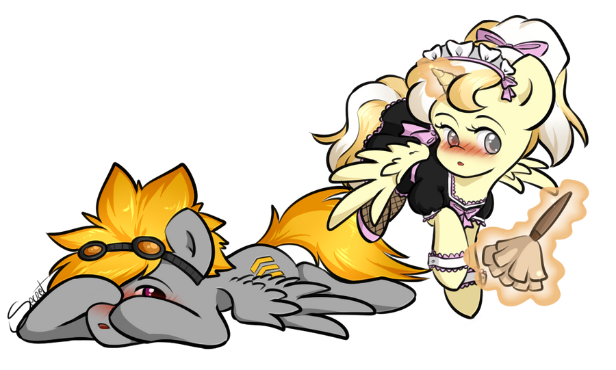 Comm: Everlight and Sprinkles by secret-pony