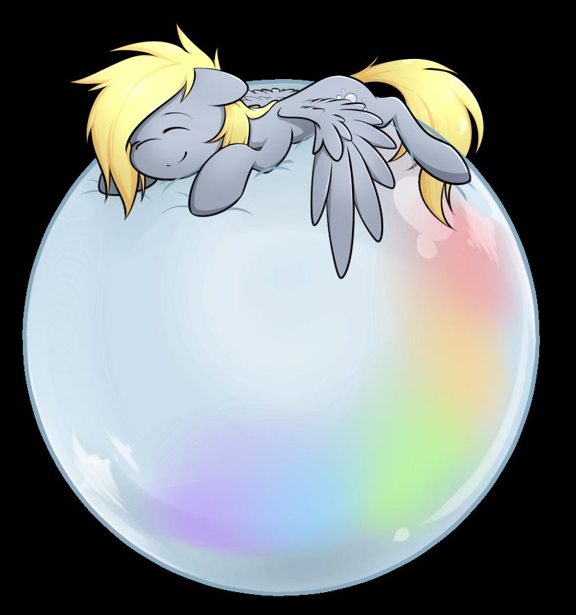 Derpy's Bubble by secret-pony