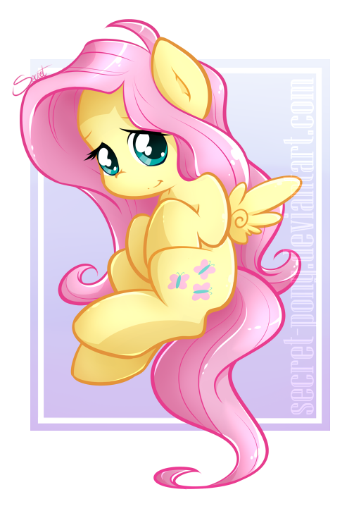 Chibi Fluttershy by secret-pony