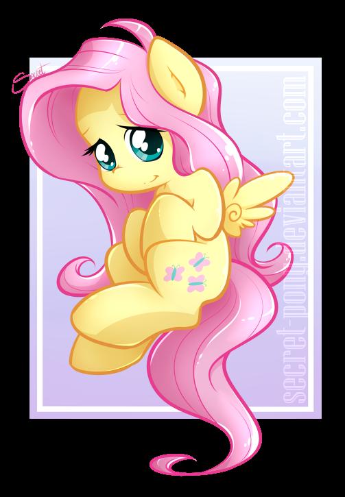 Chibi Fluttershy by secret-pony