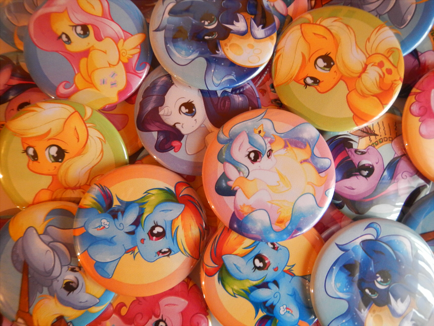 Galacon 2014 buttons by secret-pony