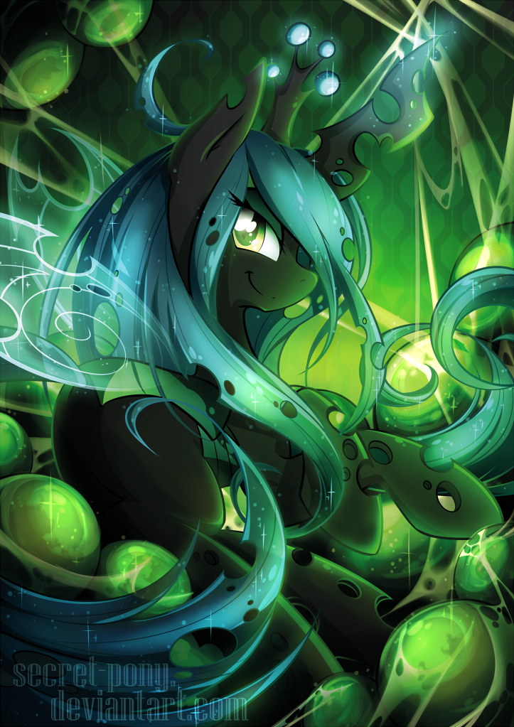queen_chrysalis___bronycon_print_by_secr