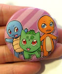 Gen 1 Starter Pokemon Button