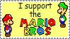 Stamp - Support the Mario Bros by MariettaRC