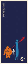 Fantastic 4 Saul Bass by two-pixels