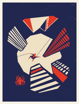 Spiderman Skyline Saul Bass