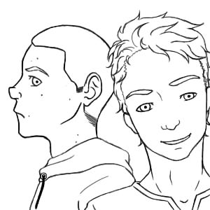 Scott And Stiles Whole Line Art by Akra-Cat