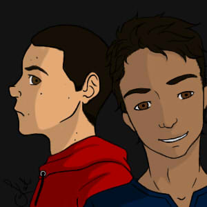Scott And Stiles_colored by Akra-Cat