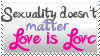 Sexuality Doesnt matter Stamp by SteampunkedInkling