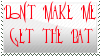 Don't Make Me Get the Bat Custom Stamp by SteampunkedInkling