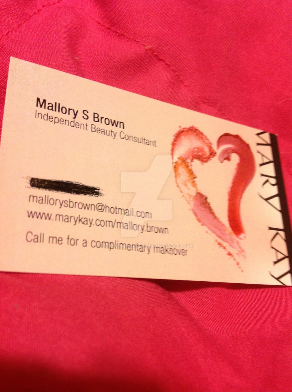 Mary Kay Business Card by SteampunkedInkling on DeviantArt