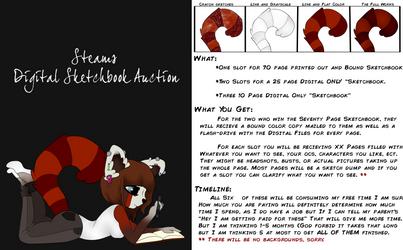 Digital Sketchbook Auction by SteampunkedInkling