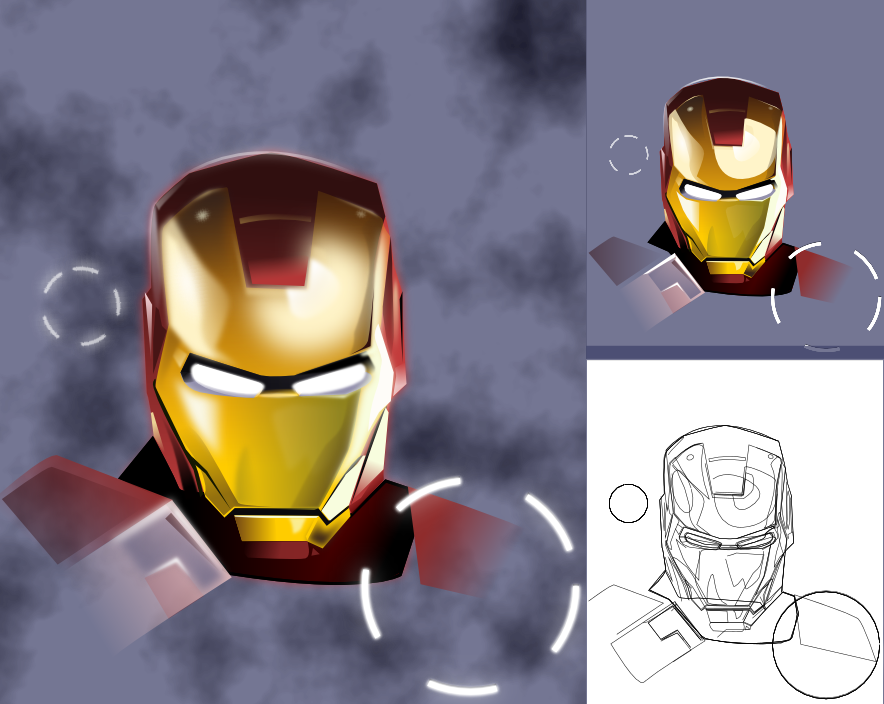 Inkscape - Iron Man by Seothen