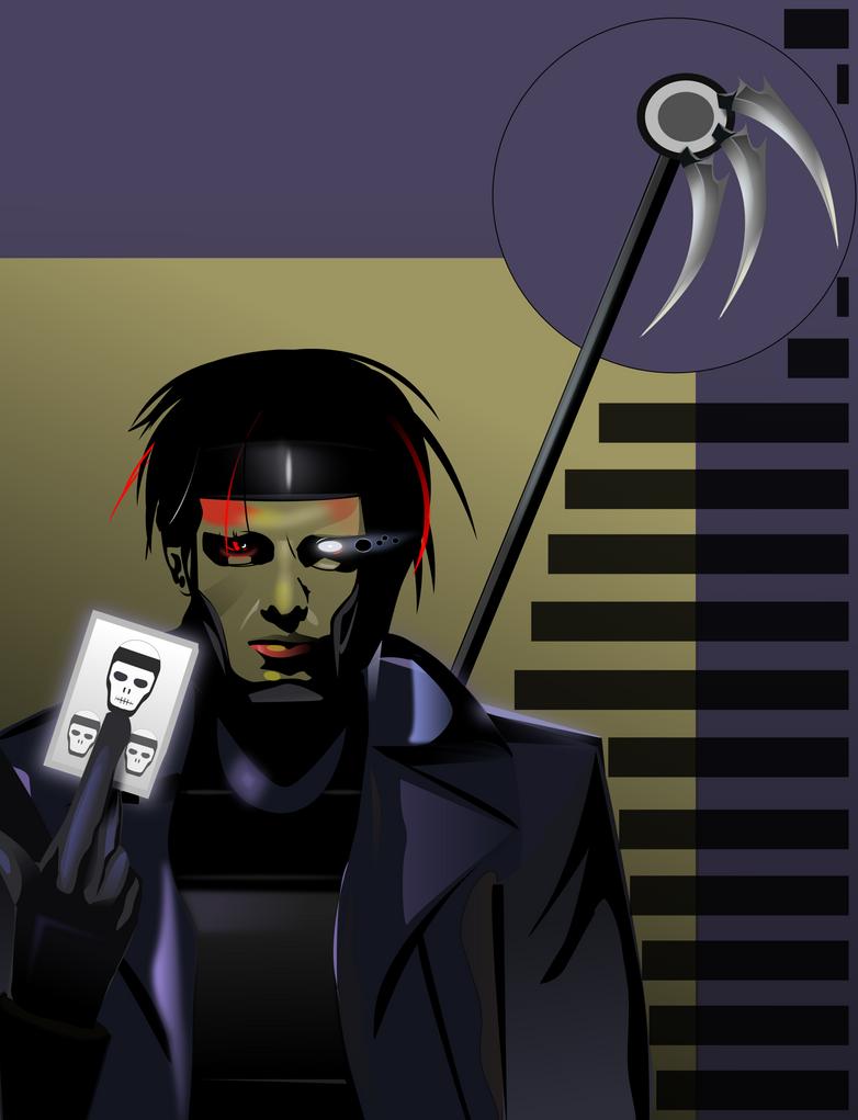 Gambit as Death - Inkscape by Seothen