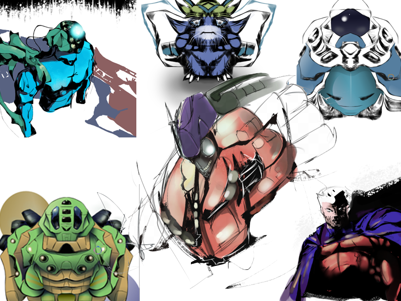 Composite of Krita Sketches by Seothen