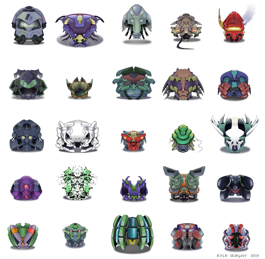 25 Sci-Fi Helmet Designs - Krita by Seothen