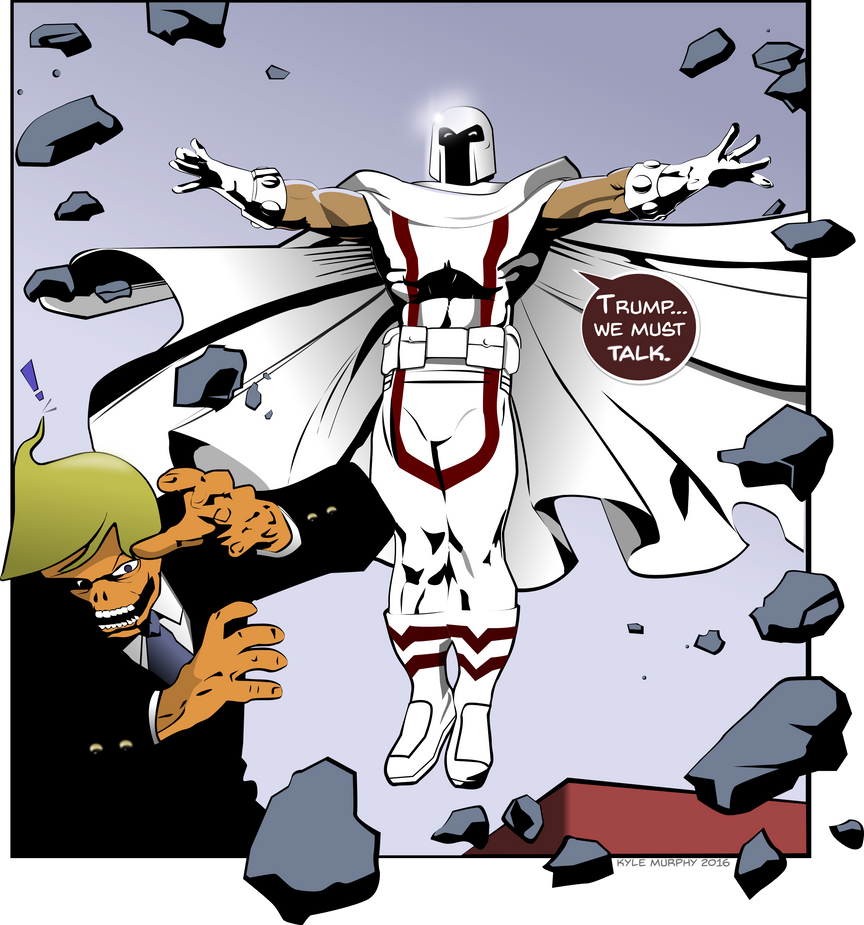 Magneto Confronts the Orange Trump by Seothen